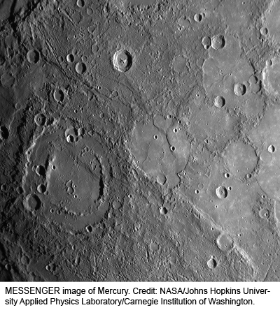 MESSENGER image of Mercury