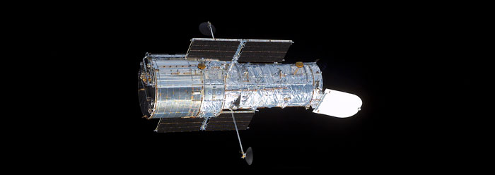 The Hubble Space Telescope. Image credit: NASA.