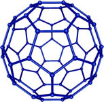 A spherical molecule of 60 carbon atoms, popularly called a buckyball