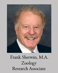 Frank Sherwin, M.A. in Zoology, Research Associate