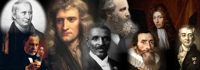 Great Scientists (left to right): Kirby, Pasteur, Newton, Carver, Maxwell, Kepler, Boyle, Bell